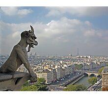 Gargoyle surveying Paris Photographic Print