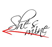 Shes Mine Arrow Design by Style-O-Mat