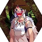 Princess Mononoke Hexagon Design by Yitzhach