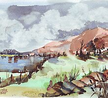 A painted landscape by Maree  Clarkson