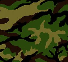 Camouflage Military Tribute by Roz Abellera Art