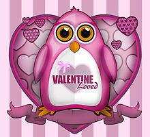 Valentine Loved - Pink Penguin by Adamzworld