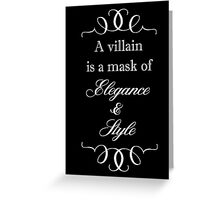 Villain Greeting Card