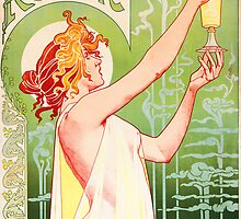 'Absinthe Robette' by Alphonse Mucha (Reproduction) by Roz Abellera
