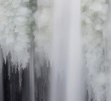 Icy Falling Water by Kenneth Keifer