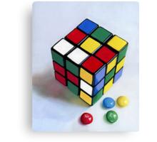 Rubik's Cube pastel painting Canvas Print