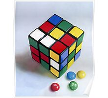 Rubik's Cube pastel painting Poster