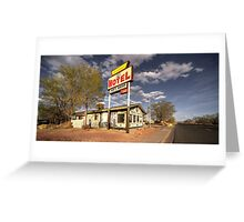 The Aztec Motel  Greeting Card