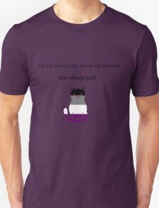'My cat doesn't care about my sexuality' Asexual T-Shirt