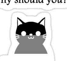 'My cat doesn't care about my sexuality' Asexual Sticker