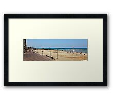 Tel Aviv beach panorama  Framed Print