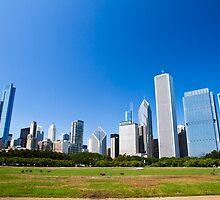 Chicago IL skyline from Grant park by PhotoStock-Isra