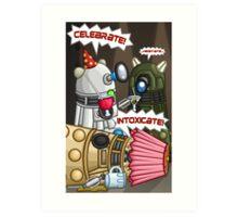 Dalek Party Art Print
