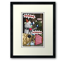 Dalek Party Framed Print