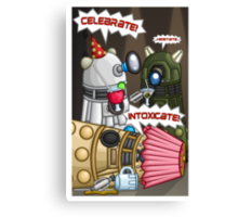 Dalek Party Canvas Print
