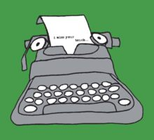Lonely Typewriter Kids Tee