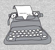 Lonely Typewriter One Piece - Short Sleeve
