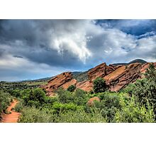 Red Rocks Trails Photographic Print