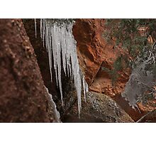 Red Rocks Icicles Photographic Print