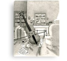 Violin and Sitting-Room Canvas Print