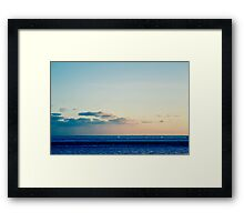 parallel clouds  Framed Print