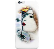 Woman with Yellow Rose iPhone Case/Skin