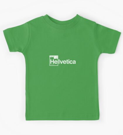 Helvetica Periodic Logo 1 (in white) Kids Tee