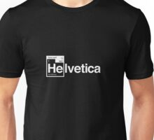 Helvetica Periodic Logo 1 (in white) Unisex T-Shirt