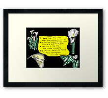 The Lily & The Bee Framed Print