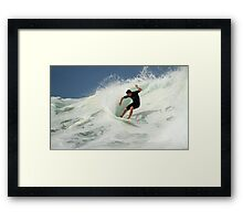 Surfing The Milky Way Framed Print