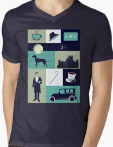 Downton Abbey - Collage Mens V-Neck T-Shirt