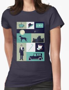 Downton Abbey - Collage Womens Fitted T-Shirt