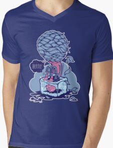 COLD FURRY Mens V-Neck T-Shirt