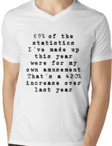 Lies, Damn Lies, and Statistics Mens V-Neck T-Shirt