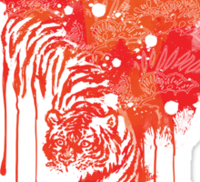 Painted tiger Sticker
