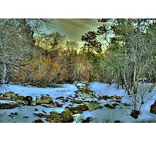 White Icing At Sundown Photographic Print
