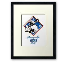 Baseball Championship Series Final Retro Framed Print