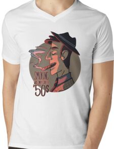 Smoking was Only Cool in the 50s Mens V-Neck T-Shirt