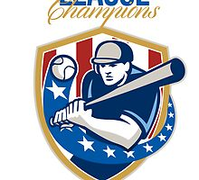 Baseball League Champions Retro by patrimonio