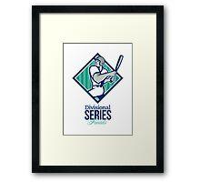 Divisional Baseball Series Finals Retro Framed Print