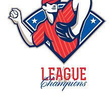 League Champions Baseball Retro by patrimonio