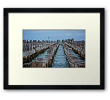 Princes Pier Port Melbourne Vic HDR Framed Print