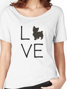 Yorkie Love Women's Relaxed Fit T-Shirt