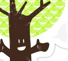 Tree huger Sticker