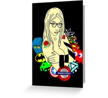 Super Sexy Nerdy Girl Greeting Card