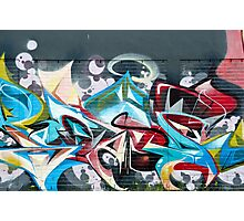 Abstract Graffiti on the brick textured wall Photographic Print