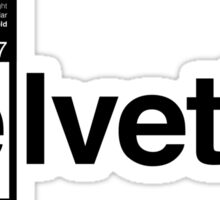 Helvetica Periodic Logo 1 (in black) Sticker