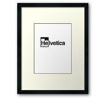 Helvetica Periodic Logo 1 (in black) Framed Print