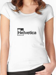 Helvetica Periodic Logo 1 (in black) Women's Fitted Scoop T-Shirt
