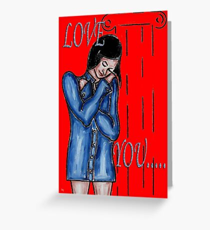 LOVE YOU 12 Greeting Card